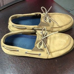 Sperry leather slip on shoes size 5.5M men's size
